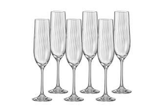 Bohemia Waterfall Champagne Flute 190ml Set of 6