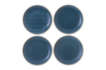 Royal Doulton Gordon Ramsay Maze Grill Plate 16cm Mixed Blue Set of 4