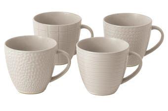 Royal Doulton Gordon Ramsay Maze Grill Mug 295ml Mixed White Set of 4
