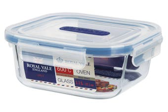 Royal Vale Glass Square Container 1.1L
