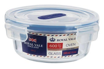 Royal Vale Glass Round Container 640ml
