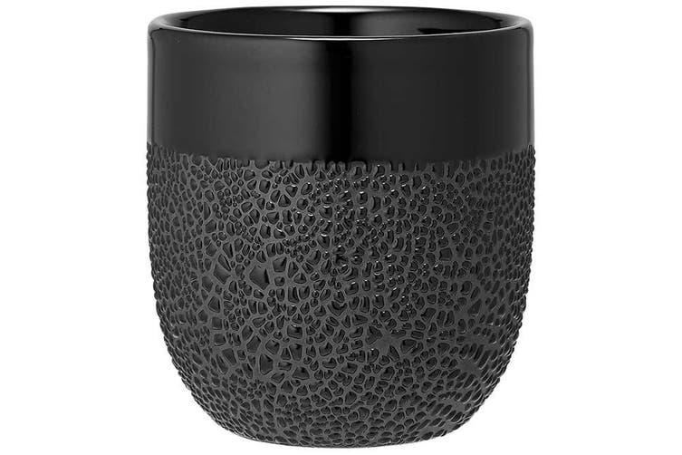 Ladelle Cafe Tumbler Textured Black Set of 4