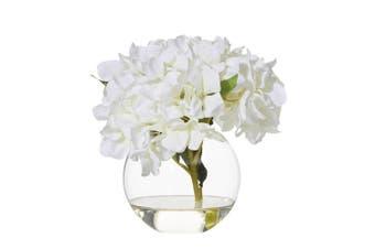 Rogue Hydrangea Sphere Vase 24cm x 24cm x 23cm White