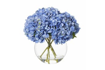 Rogue Hydrangea Sphere Vase 48cm x 48cm x 40cm Blue Glass