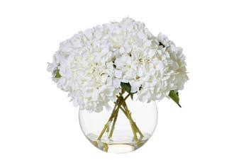 Rogue Hydrangea Sphere Vase 48x48x40cm White Glass