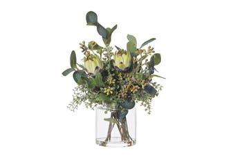 Rogue Native Mix Cara Vase 32x37x36cm Green Glass