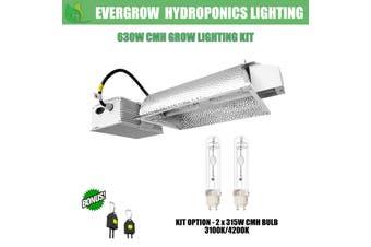 EverGrow 630W CMH - Dual Bulb (2x315W) Ceramic Metal Halide Reflector Ballast Kit - 3100K