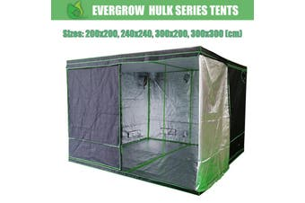 EverGrow Hulk Series Hydroponics Grow Tent 200x200, 240x240, 300x200, 300x300 cm (Tent Only) - 240 x 240 cm