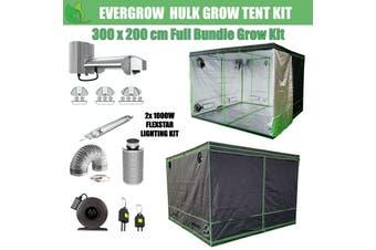 EverGrow Hulk Series 3x2m Dual Flexstar 1000W HPS/MH Hydroponic Grow Tent Full Bundle Kit