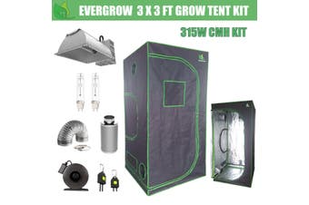EverGrow Pro Series 3x3 ft CMH 315W Hydroponic Grow Tent Full Bundle Kit