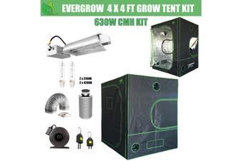 EverGrow Pro Series 4x4 ft CMH 630W Hydroponic Grow Tent Full Bundle Kit