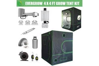 EverGrow Pro Series 4x4 ft (122x122x203 cm) Hydroponic Grow Tent Full Bundle Kit
