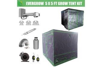 EverGrow Pro Series 5x5 ft (152x152x203 cm) Hydroponic Grow Tent Full Bundle Kit