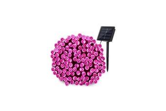 Solar 200/300/500/800/1000 LED Icicle String Lights - 500 LED / Pink