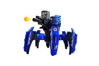 Space Warrior Spider Battle Bot Shooting Soft Bullet RC Remote - Blue