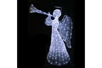 3D Crystal Angel 160cm Cool White LED Display Indoor/Outdoor - Cool White