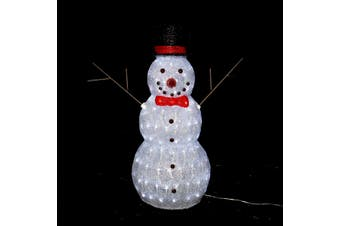 3D Acrylic Snowman 60cm White LED Display Indoor/Outdoor