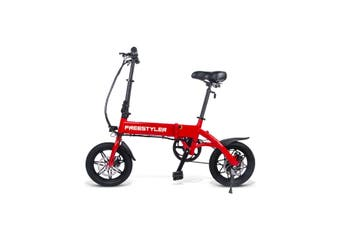 "3rd Gen Freestyler 14"" Full Aluminium Foldable 250W E-Bike Electric Bicycle 6.6Ah 250W Hub Motor - Red"