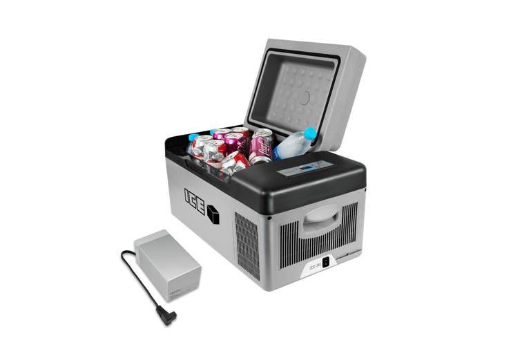 ICE 20L Portable Car Fridge Freezer Bundle Kit with External 15.6 Ah Battery