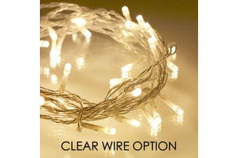 Solar 200/300/500/800/1000 LED Icicle String Lights - 500 LED / Warm White - Clear Wire