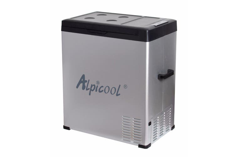 Alpicool 75L Portable Compressor 2 Way Fridge Freezer 12/24V DC 240V AC