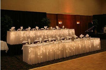 200 LED Table Curtain Wedding Function Lights 7m x 1m Indoor/Outdoor - Warm White