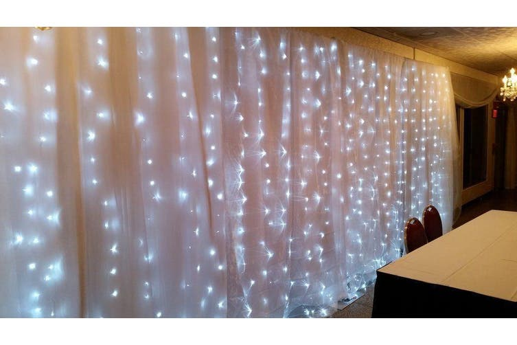200 LED Curtain Lights Indoor/Outdoor - Warm White