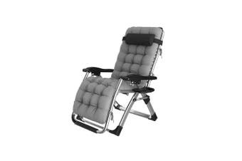 Premium Recliner Foldable Indoor/Outdoor Reclining Lazy Chair Comfort Pack - Cloud Grey Cushioned