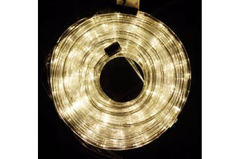 Super Value 18m LED Rope Light 8 Function Controller Indoor/Outdoor Decoration - Warm White