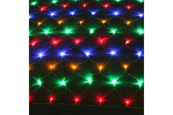 Solar 200-288 LED Net Lights 2.5 x 2.5m, 5.0 x 2.5m Multi White Warm White Colour - 5.0 X 2.5 / Multi-Coloured