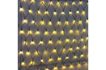 Solar 200-288 LED Net Lights 2.5 x 2.5m, 5.0 x 2.5m Multi White Warm White Colour - 5.0 X 2.5 / Warm White