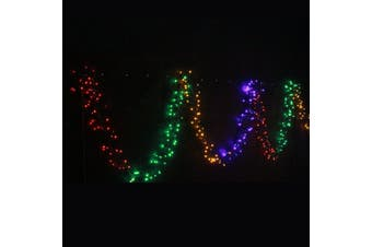 800 LED Fairy Firecracker Cluster Lights Wave/Water Flow Function Effect - Multi Colour