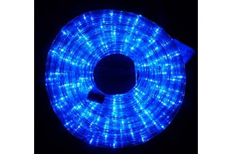 10m LED Rope Light 8 Colours Low Wattage 8 Function Controller - Blue