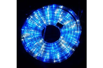 10m LED Rope Light 8 Colours Low Wattage 8 Function Controller - Blue White