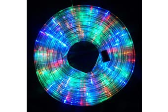 10m LED Rope Light 8 Colours Low Wattage 8 Function Controller - Multi