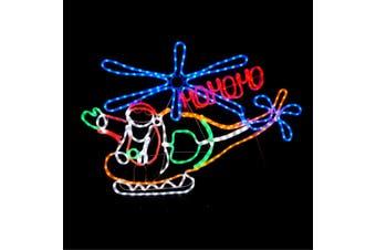 Christmas LED Motif Santa In Chopper 150x78cm Indoor Outdoor Display