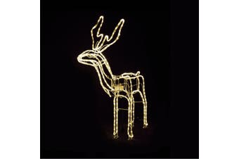 3D LED Christmas Motif Motorised Buck Reindeer Indoor/Outdoor - Warm White