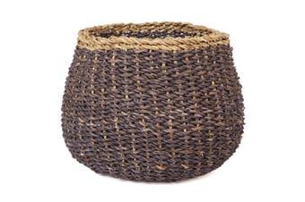 Ajni Brown Handmade Seagrass Basket Planter