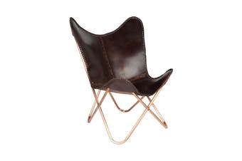 Montana Leather Butterfly Chair