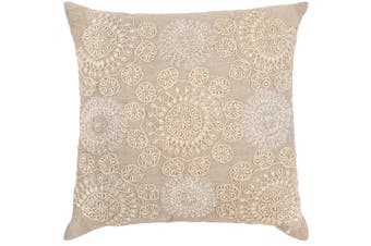 Altair Beige Embroidered Indoor Cushion 50x50 CM