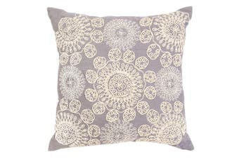Altair Blue Embroidered Indoor Cushion 50x50 CM