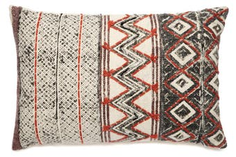 Daphne COTTON PRINTED INDOOR CUSHION (with silk embroidery) 40x60 CM