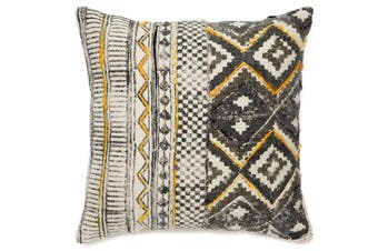 Nigella COTTON PRINTED INDOOR CUSHION (with silk embroidery) 50x50 CM