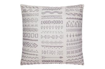 Tribal Grey and White Outdoor Cushion with Insert 50x50 CM
