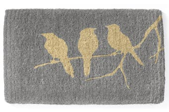 45x75cm Birds on Branch 100% Coir Doormat