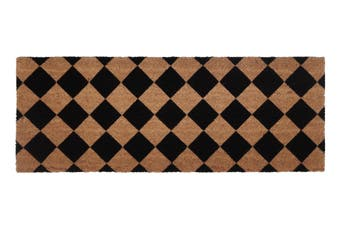 Diamond PVC Backed Coir Doormat 45x120 cm