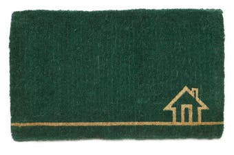 45x75cm Ghar Teal 100% Coir Doormat
