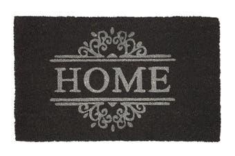 Home Dark Grey PVC Backed Coir Doormat 45x120 cm