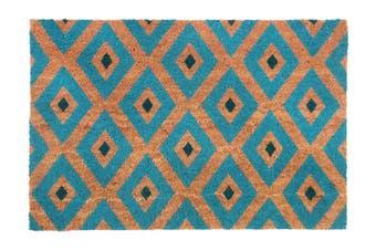 Kimberley Blue PVC Backed Coir Doormat