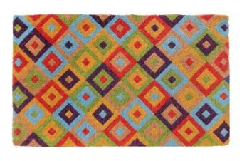 Saman Multicolor 100% Coir Doormat